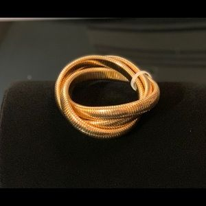 Gold serpentine wrap around bracelet